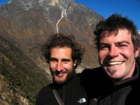 EBC companions: Thomasso on the left (20-year old Italian-American, photography whiz) and Mark (crazy - in a good way - Australian paraglider.  Jessie thinks he's just gross.)