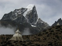 One of the rare cloudy days in Dengboche.  Produced my favorite pictures.