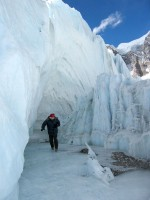 Khumbu glacier ice skating.