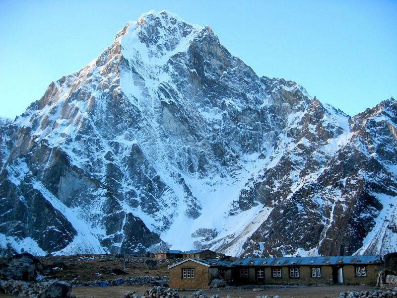 Our lodge in Dzunghla, where we stayed the night before the Cho La pass crossing.