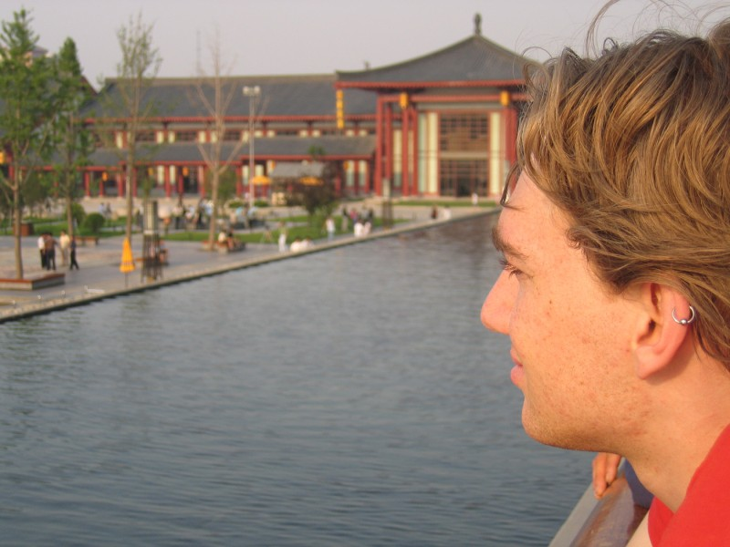 in front of the Big Goose Temple in Xi'an