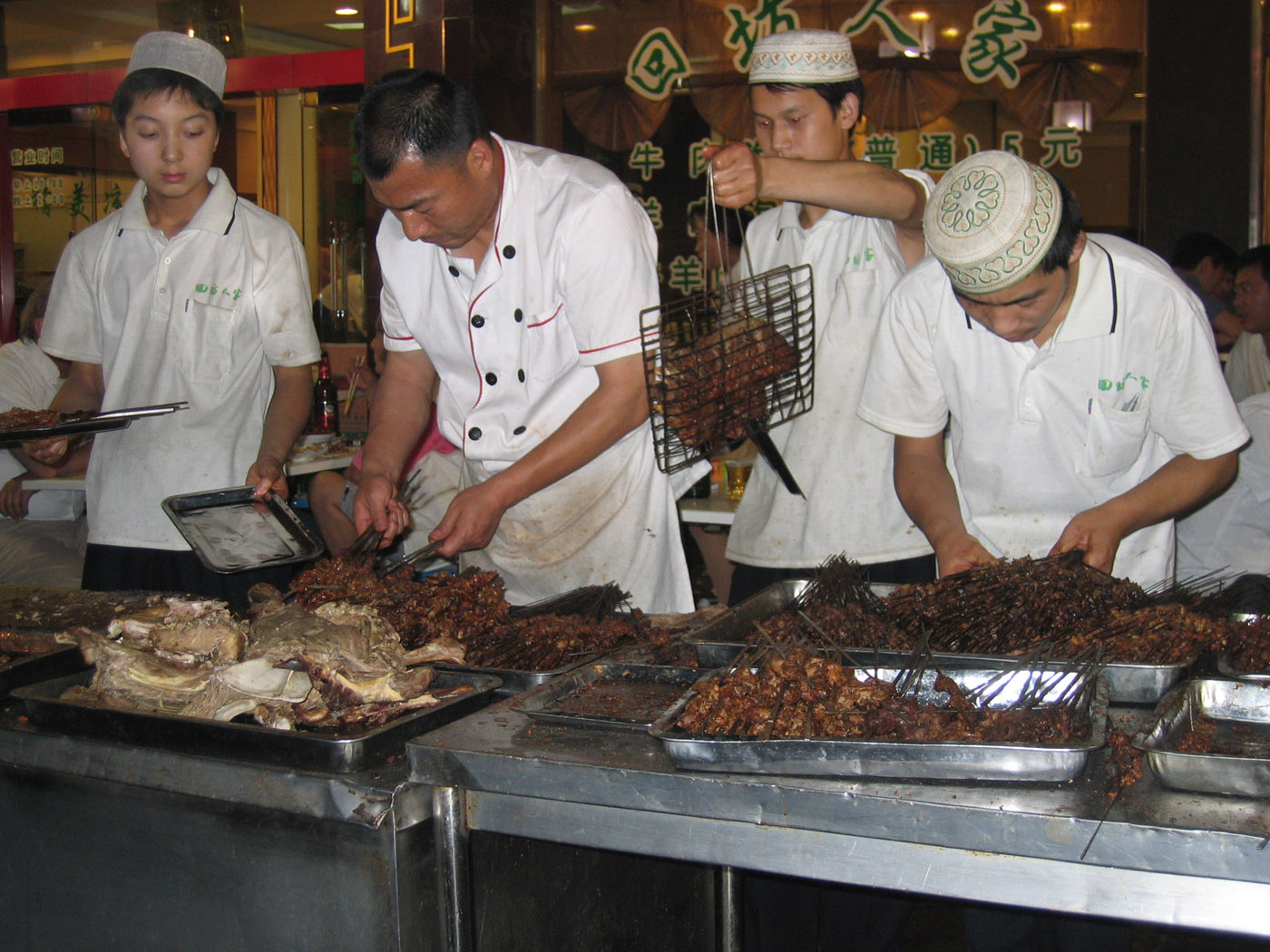 street food's available until very late in Xi'an