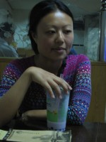 Silvia with tarrow pearl-milk tea