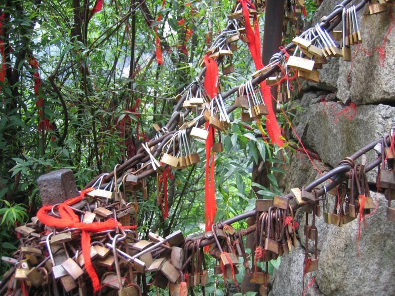 'lovers locks' at Hua Shan