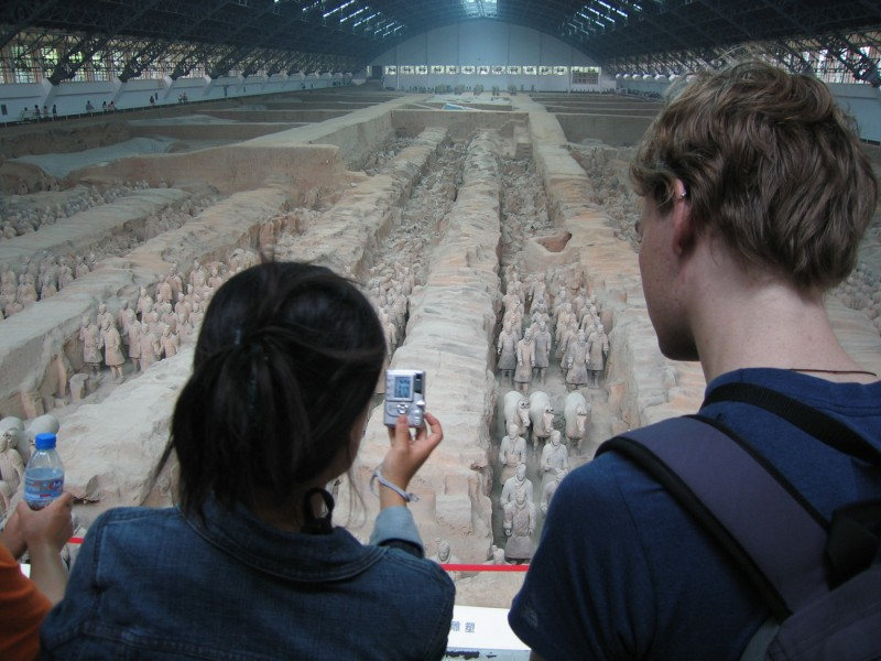 at the terracota army