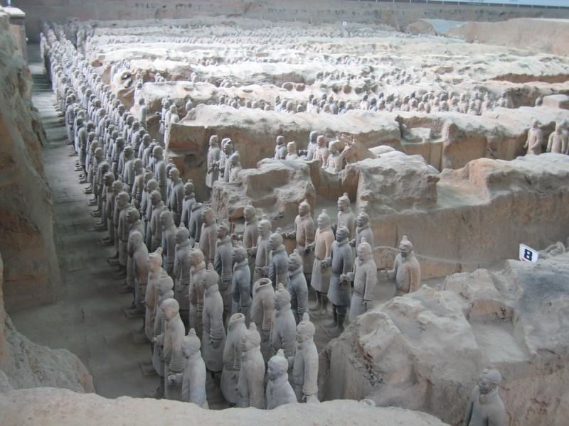 the soldiers were found in these arrangements, underground