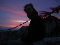 the sunrise at North Peak